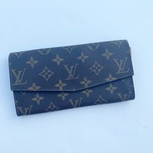 Louis Vuitton Long Button Flap Wallet Clutch